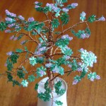 Тюльпановое дерево из бисера