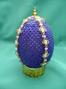 Пасхальное яйцо из бисера, бисероплетение пасхальные яйца