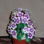 Флокс фиолетовый из бисера