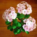 Гортензия розовая из бисера