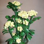 Розы чайные из бисера