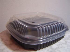 Пластмассовый контейнер для блинов