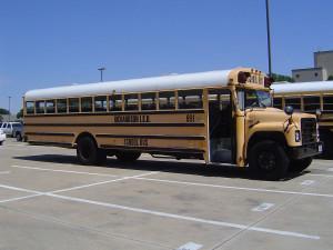 Школа в Америке. Школьный автобус