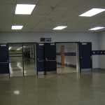 Школа в Америке. Школьный коридор