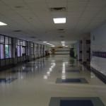 Школа в Америке. Коридор 1-го этажа