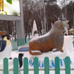 ЦПКиО. Ростовые фигуры на празднике Новогодней Ёлки