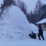 ЦПКиО. Строительство снежного городка