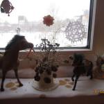 Офрмление окна к празднику