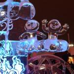 Екатеринбург. Ледовая скульптура «Олимпийский огонь»