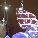 Екатеринбург. Ледовая скульптура «Огонь захотел и в космос полетел»