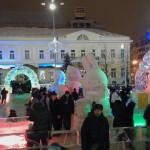 Екатеринбург. Ледовый городок. Олимпийские Талисманы