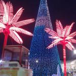 Екатеринбург. Ледовый городок. Новогодняя Ёлка. Пальмы