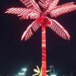 Екатеринбург. Ледовый городок. Светящаяся пальма