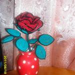 Цветы из бисера роза, бисерное плетение цветов, цветы из бисера, бисероплетение цветов