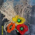 Цветы из бисера маки, бисерное плетение цветов, цветы из бисера, бисероплетение цветов, букеты цветов из бисера