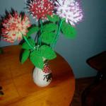 Цветы из бисера георгины, бисерное плетение цветов, цветы из бисера, бисероплетение цветов, букеты цветов из бисера