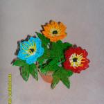 Цветы из бисера анемона, бисерное плетение цветов, цветы из бисера, бисероплетение цветов, букеты цветов из бисера