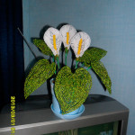 Цветы из бисера каллы, бисерное плетение цветов, цветы из бисера, бисероплетение цветов