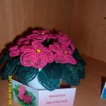 Цветы из бисера фиалка, бисерное плетение цветов, цветы из бисера, бисероплетение цветов