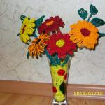 Цветы из бисера герберы, бисерное плетение цветов, цветы из бисера, бисероплетение цветов, букеты цветов из бисера