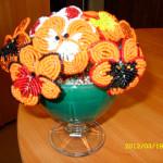 Цветы из бисера анютины глазки, бисерное плетение цветов, цветы из бисера, бисероплетение цветов, букеты цветов из бисера