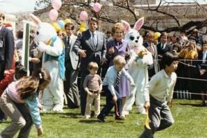 катание пасхальных яиц, пасхальные игры, белый дом, рональд рейган