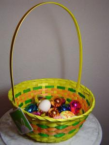 пасхальная корзинка, пасхальные яйца, день святой пасхи