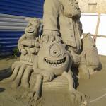 детские скульптуры из песка, скульптуры из песка фото, крепость из песка, картинки замки из песка, творчество своими руками