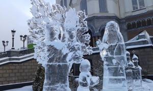 фестиваль вифлеемская звезда 2014, храм памятник на крови екатеринбург, международный рождественский фестиваль, рождество вифлеемская звезда, фестиваль вифлеемская звезда, фестиваль ледовых скульптур, празднование 700 летия сергия радонежского