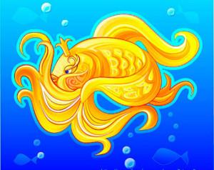 золотая рыбка, золотая рыбка картинки, золотая рыбка загадки дети