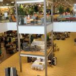 Второй и первый этажи. Магазин «Мебель из Небраски», штат Техас, США