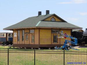 Здание железнодорожной станции. Музей Американской Железной Дороги