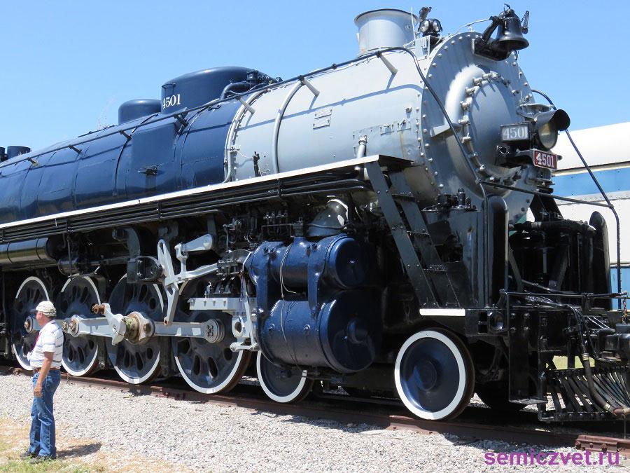 Паровоз «Метеор» №4501. Музей Американской Железной Дороги. Техас