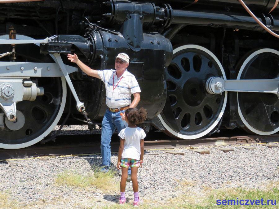 Паровоз «Биг Бой» №4018. Музей Американской Железной Дороги. Техас