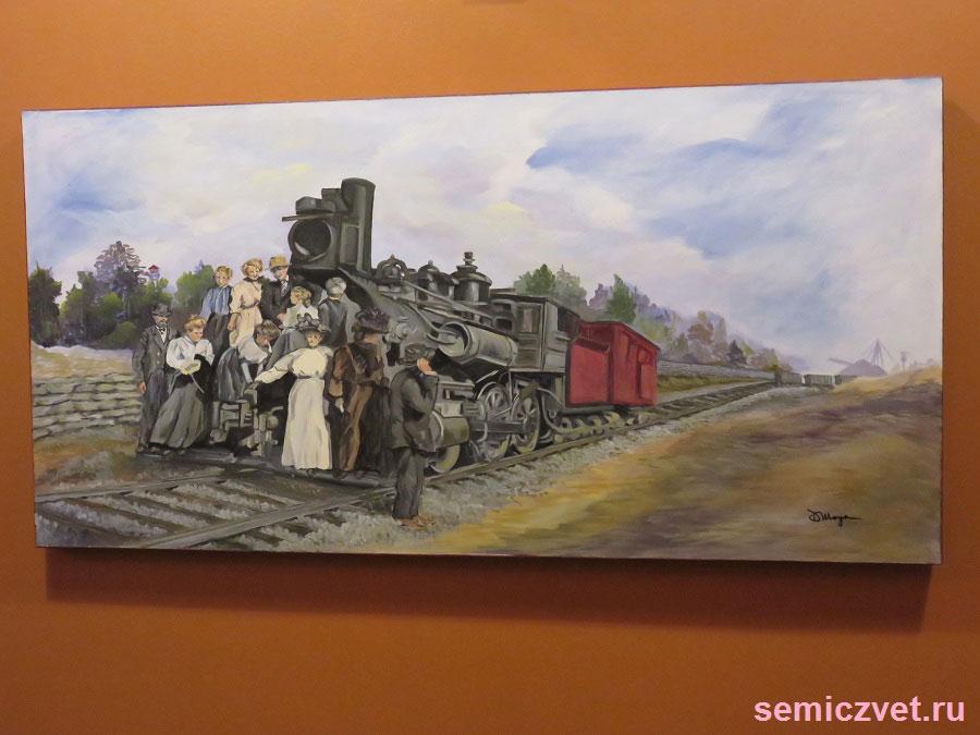 Паровоз №19. Музей Исторического Наследия. Техас