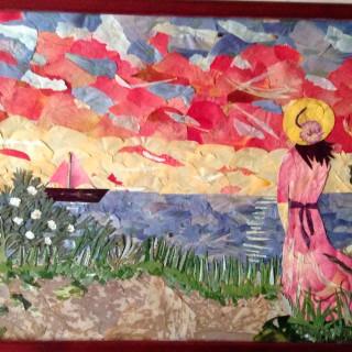 картины ошибана, техника ошибана, ошибана фото, ошибана картинки, ошибана флористика, живопись цветами, прессованная флористика, творчество ошибана, флористическая живопись