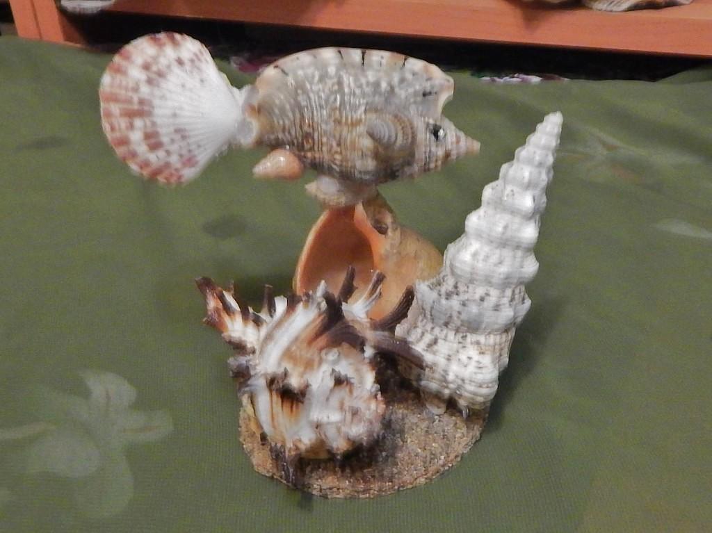 Рыбка поделки из ракушек 67