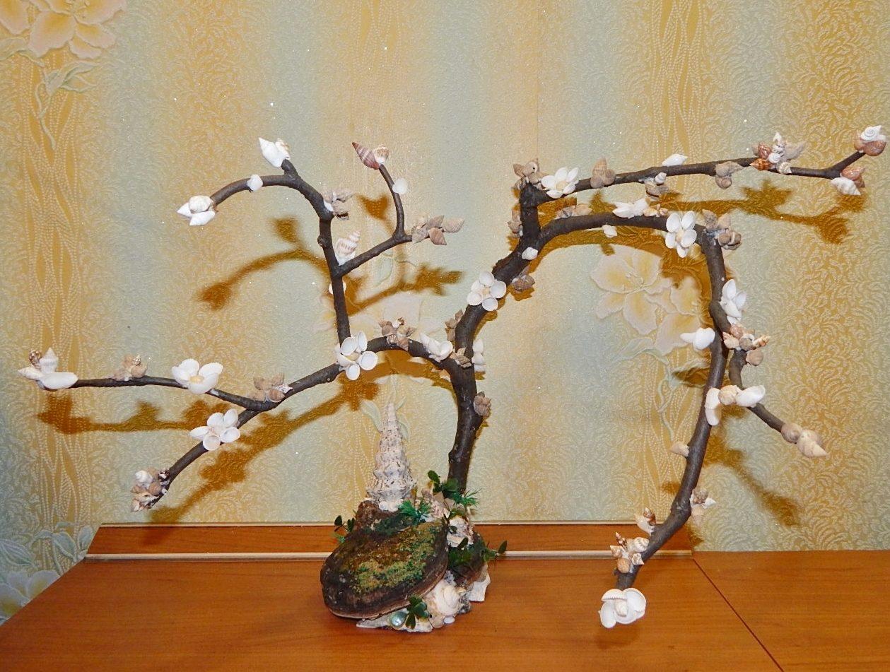 Дерево из ракушек своими руками фото