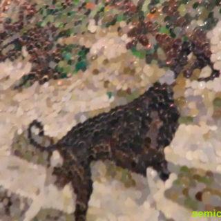 Никки Даутуэйт. Конфетти-картина. Музей Рипли. Гранд-Прери, Техас, США
