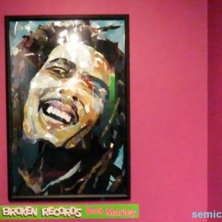 «Певец Боб Марли». Осколки грампластинок. Музей Рипли. Гранд-Прери, Техас, США