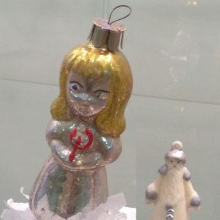 Ёлочные игрушки СССР. Миниатюрный Дед Мороз