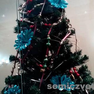 Новогодние украшения СССР - стеклянные бусы для ёлки