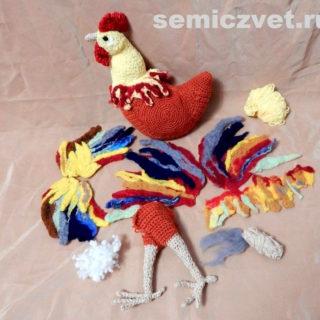 Вязание, валяние, вышивка, синтетический наполнитель