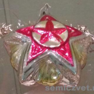 Ёлочные игрушки. Игрушка со звездой, выполненная в форме ордена