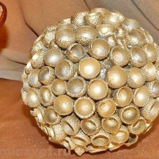 Новогоднее украшение - Шар «Бронзовый»