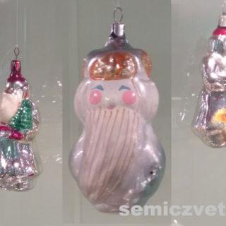 Ёлочные игрушки. Стеклянные игрушки «Дед Мороз»