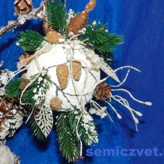 Новогоднее украшение - Шар «Новогодний подарок»