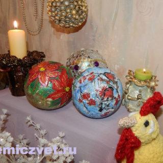 Новогодние украшения - шары на ёлку своими руками