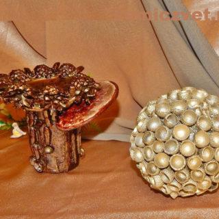 Новогоднее украшение-подсвечник «Сказочный» своими руками