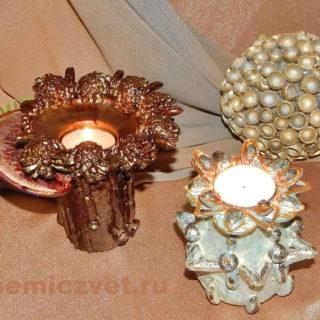 Новогоднее украшение-подсвечник «Сказочный» и «Хрустальный лёд» своими руками